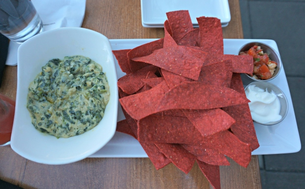 Spinach & Artichoke Dip with Tortilla Chips